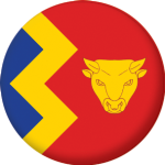 Birmingham Flag 58mm Fridge Magnet